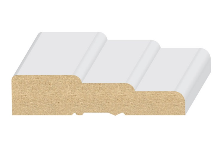 "EL & EL Wood Products 3 STEP MDF CASING MOULDING 2-1/2"" , 110MUL"